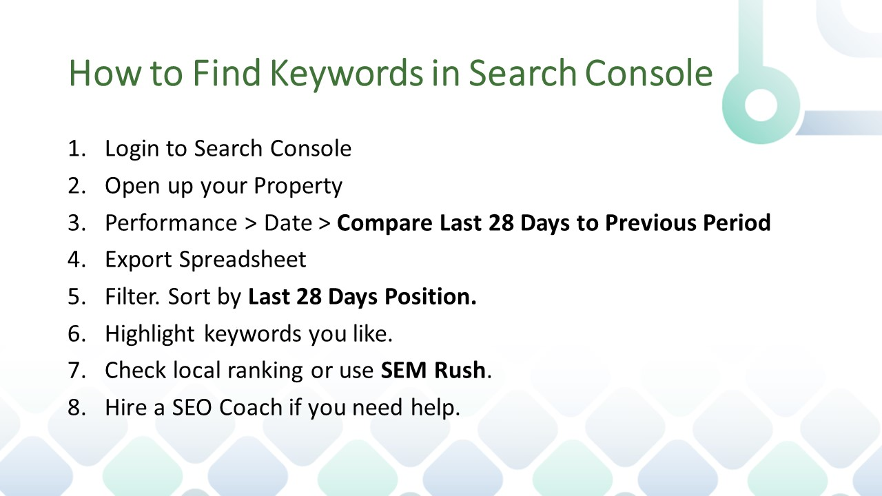 How to Find Keywords in Search Console