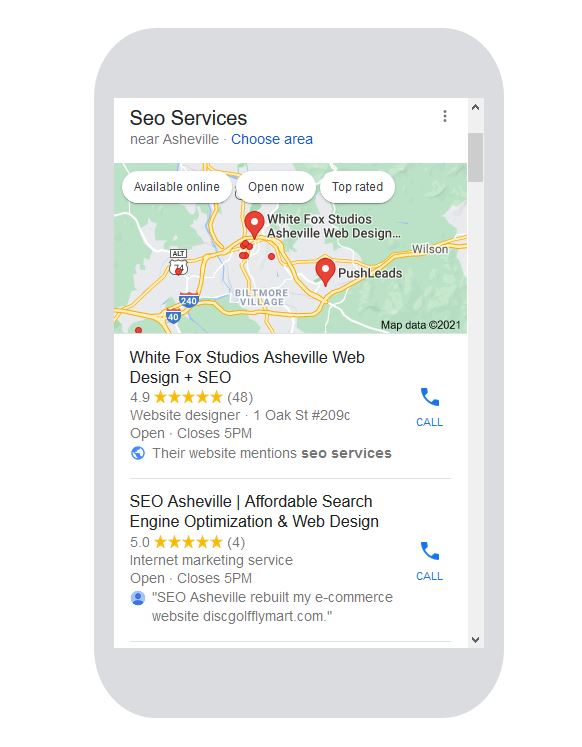 Mobile Phone SEO Services and results